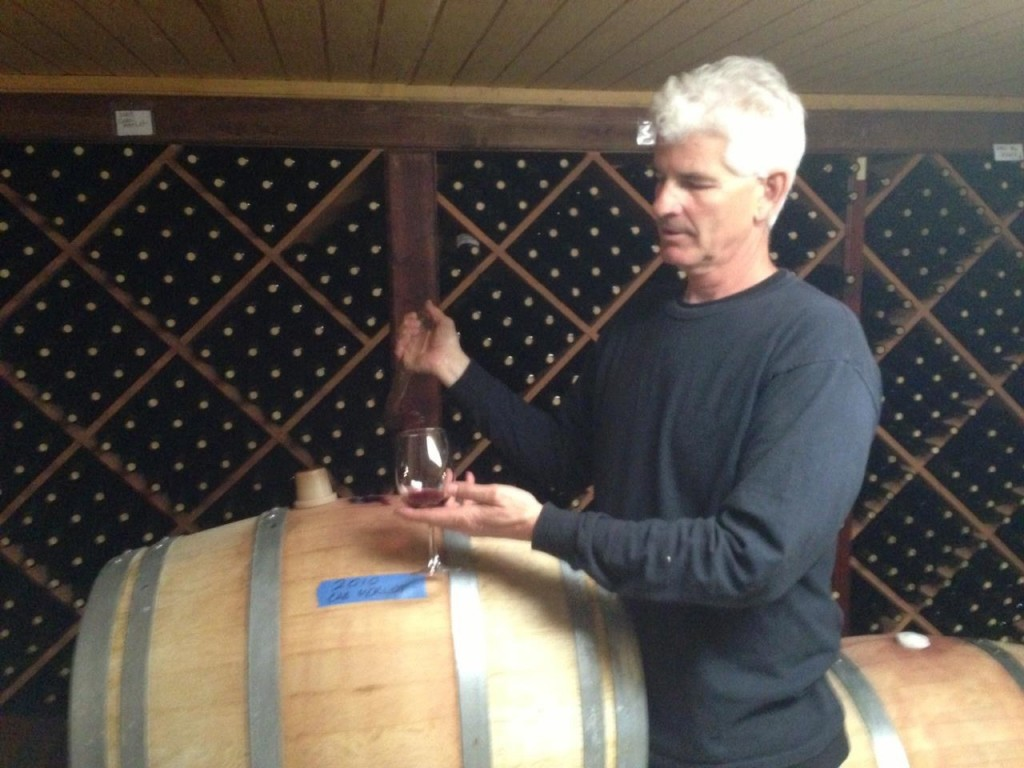Tony in Cellar-wine tour